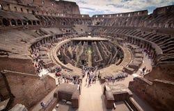 Inneres Colosseum stockbilder