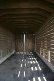 Inneres corncrib Stockbild