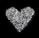 Inneres der Diamanten auf Schwarzem Stockfotografie