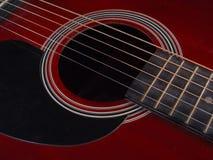 Inneres der Gitarre Lizenzfreie Stockbilder