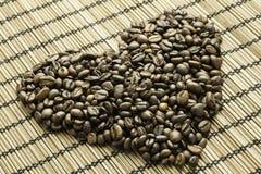 Inneres der Kaffeebohnen Lizenzfreie Stockbilder