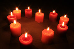 Inneres der Kerzen Lizenzfreies Stockbild