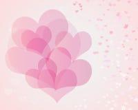 Inneres des Valentinsgrußes Stockfotos