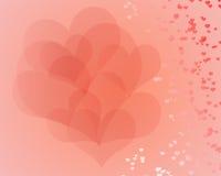 Inneres des Valentinsgrußes Lizenzfreie Stockfotografie