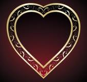 Inneres des Valentinsgrußes Lizenzfreies Stockbild
