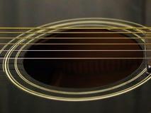 Inneres einer Gitarre Stockbild