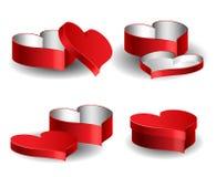 Inneres formte den Kasten, der für Valentinsgruß eingestellt wurde Lizenzfreie Stockbilder