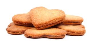 Inneres formte die Biskuite, die mit marmelade gefüllt wurden lizenzfreies stockfoto