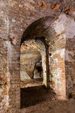 Inneres Fort Tarakanovskiy der Ruinen Lizenzfreie Stockbilder