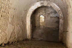Inneres Fort Tarakanovskiy der Ruinen Lizenzfreie Stockfotografie
