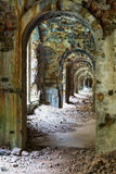 Inneres Fort Tarakanovskiy der Ruinen Lizenzfreie Stockfotos