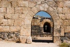 Inneres Gatter der Belvoir Festung Stockbild