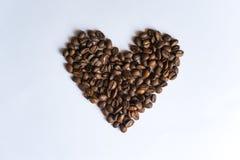 Inneres gebildet von den Kaffeebohnen Stockfoto