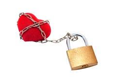 Inneres gebunden mit Kette padlock. Lizenzfreies Stockfoto
