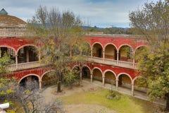 Inneres Gericht gesehen von der Dachspitze jaral de Berrio Mexiko lizenzfreie stockfotos