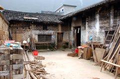 Inneres Gerichtsyard eines Hauses in China Lizenzfreies Stockfoto