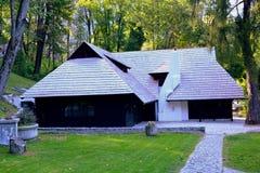 Inneres Kleieschloss, Dracula-Schloss, Rumänien Lizenzfreie Stockfotos