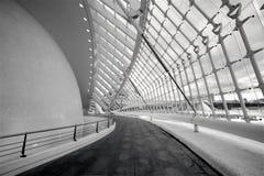 Inneres L' Hemisferic in der Stadt von Künsten und von Wissenschaften Stockbilder