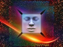Inneres Leben des Supermenschen AI Stockfotos