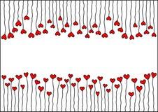 Inneres mit Stämmen und Platz für Valentinsgrüße Lizenzfreie Stockfotografie