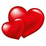 Inneres mit zwei Rottönen, Symbol der Liebe Lizenzfreie Stockbilder