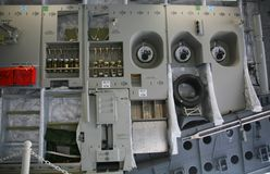 Inneres Panel der Militärflugzeuge C-17 Lizenzfreie Stockbilder