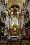 Inneres Peterskirche in Wien Stockbild