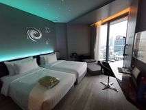 Inneres Raum-Pattaya-Hotel lizenzfreie stockfotos