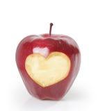 Inneres, roter Apfel Stockfotografie