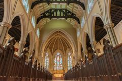 Inneres St. James Cathedral in Toronto, Kanada Stockbilder