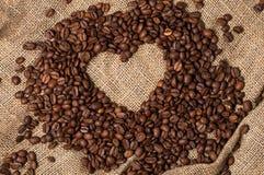 Inneres von den Kaffeebohnen Nahaufnahme Lizenzfreie Stockfotografie