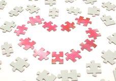 Inneres von einem Puzzlespiel Stockfotografie