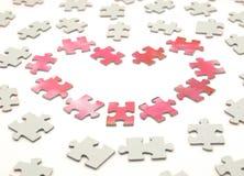 Inneres von einem Puzzlespiel Stockfoto