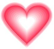 Innerformauslegung für Liebessymbole Stockfotografie