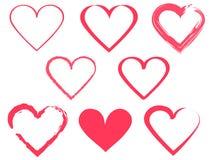 Innerformauslegung für Liebessymbole Lizenzfreies Stockfoto