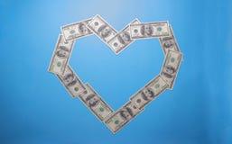 Innerformzeichen mit 100 Dollarbanknoten lizenzfreie stockfotos