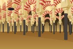 Innerhalb Alhambra Palaces in Spanien-Illustration vektor abbildung