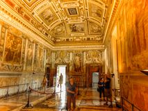 Innerhalb Castel Sants 'Angelo stockfotos