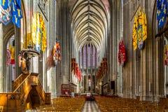 Innerhalb cathedrale heiligen Kreuzes von Orleans Lizenzfreies Stockfoto