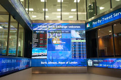 Innerhalb der Börse Londons Lizenzfreie Stockfotos
