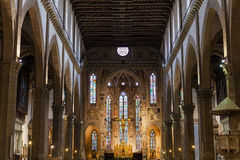 Innerhalb der Basilikadi Santa Croce in Florenz Stockbilder