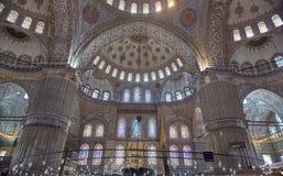 Innerhalb der blauen Moschee stockfotos
