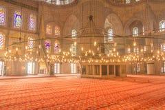 Innerhalb der blauen Moschee in Istanbul die Türkei Stockbilder