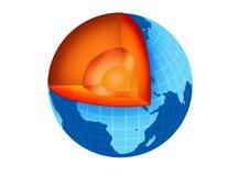 Innerhalb der Erde Stockfoto
