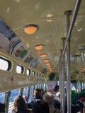 Innerhalb der f-Tram Stockfoto