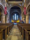 Innerhalb der Gemeindekirche in Chester Stockbild