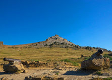 Innerhalb der Genoese Festung Stockbilder