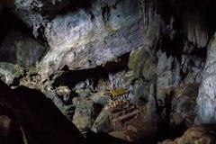Innerhalb der Höhle Pukham oder Poukham in Vang Vieng, Laos stockbild