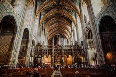 Innerhalb der Kathedrale von Albi lizenzfreies stockfoto
