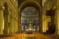 Innerhalb der Kirche Stockfotografie